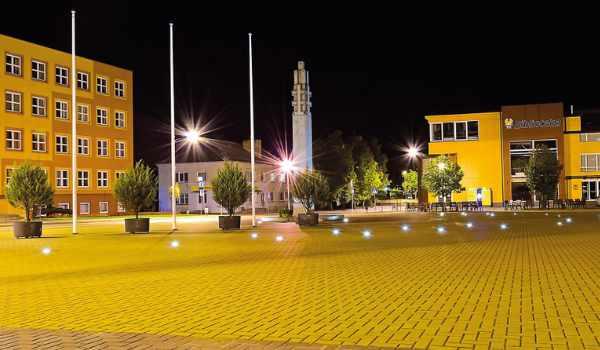 Lazdijų miesto Nepriklausomybės aikštė